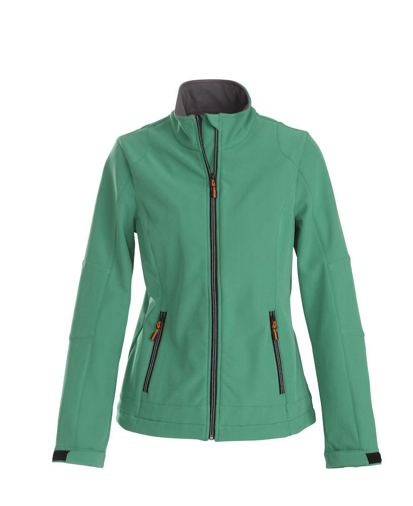 Trial Ladies Softshell Jacket Printer - grün