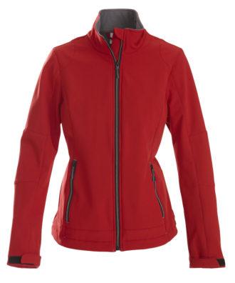Trial Ladies Softshell Jacket Printer - rot