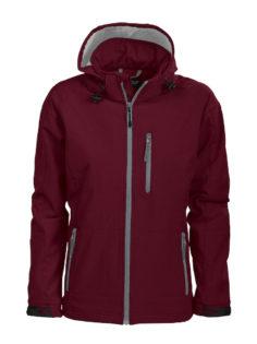 Tulsa Ladies Softshell Jacket Grizzly - burgundy