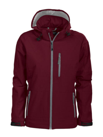 Tulsa Ladies Softshell Jacket Grizzly - burgundy