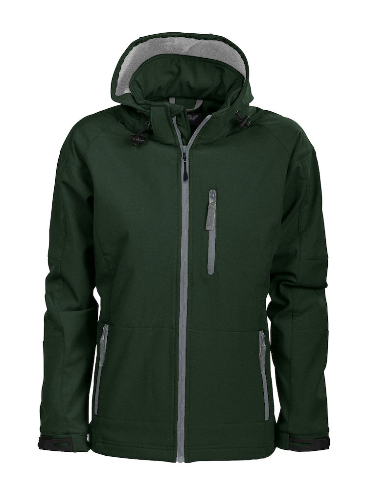 Tulsa Ladies Softshell Jacket Grizzly - dunkelgrün