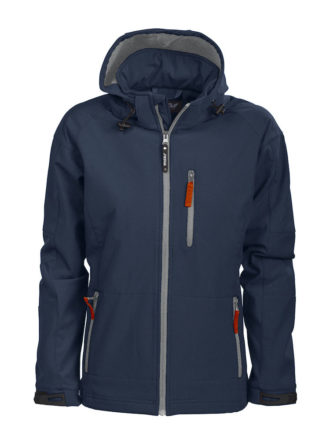 Tulsa Ladies Softshell Jacket Grizzly - marine