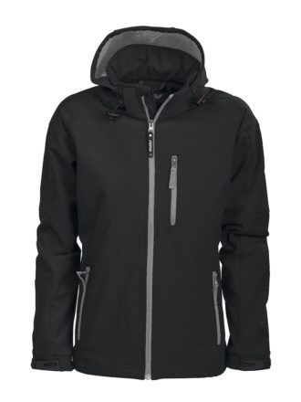 Tulsa Ladies Softshell Jacket Grizzly - schwarz