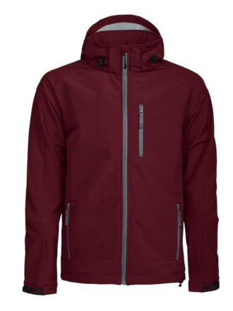 Tulsa Softshell Jacket Grizzly - burgundy