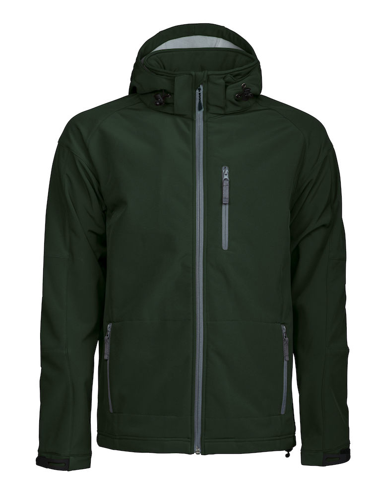 Tulsa Softshell Jacket Grizzly - dunkelgrün