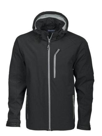 Tulsa Softshell Jacket Grizzly - schwarz