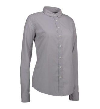 Identity Casual Stretch Bluse - grau