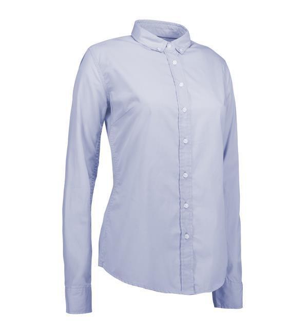 Identity Casual Stretch Bluse - hellblau