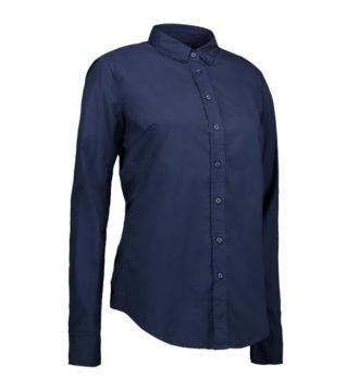 Identity Casual Stretch Bluse - navy