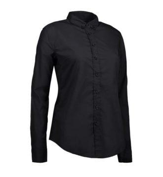 Identity Casual Stretch Bluse - schwarz
