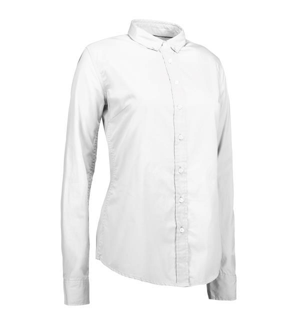 Identity Casual Stretch Bluse - weiß
