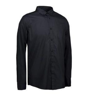 Identity Casual Stretch Hemd - schwarz
