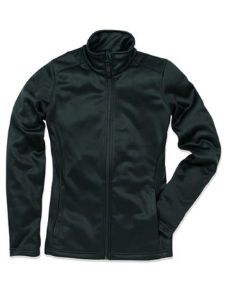 Ladies Active Bonded Fleece Jacket Stedman - black opal