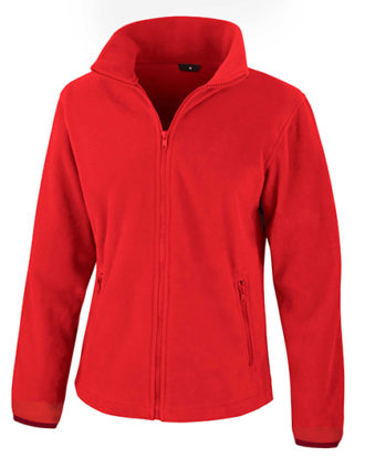 Ladies Fashion Fit Outdoor Fleece Result - flame red