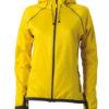 Ladies Hooded Fleece James & Nicholson - yellow carbon