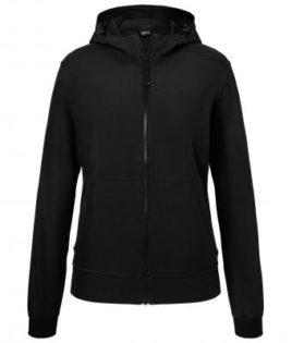 Ladies Hooded Softshell Jacket James & Nicholson - black black