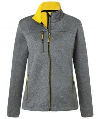 Ladies Melange Softshell Jacket James & Nicholson - dark melange yellow