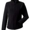 Ladies Microfleece Full Zip Russell - black
