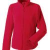 Ladies Microfleece Full Zip Russell - classic red