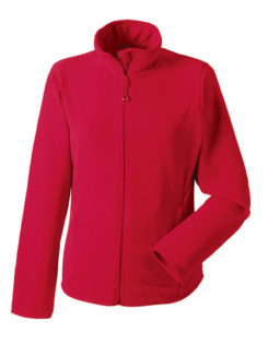 Ladies Microfleece Full Zip Russell - classic red
