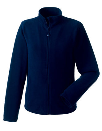 Ladies Microfleece Full Zip Russell - french navy