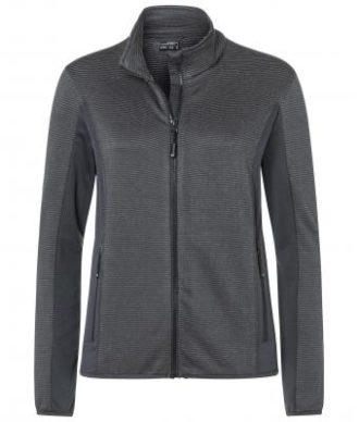 Ladies Structure Fleece Jacket James & Nicholson - black carbon
