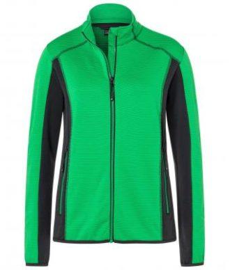 Ladies Structure Fleece Jacket James & Nicholson - ferngreen carbon