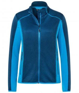 Ladies Structure Fleece Jacket James & Nicholson - navy bright blue