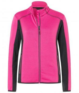 Ladies Structure Fleece Jacket James & Nicholson - pink carbon