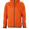 Mens Hooded Fleece James & Nicholson - dark orange carbon