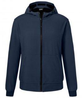 Mens Hooded Softshell Jacket James & Nicholson - navy navy