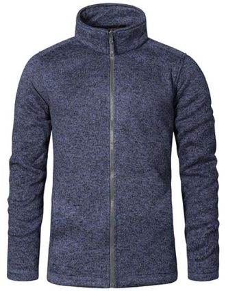 Mens Knit Fleece Jacket C+ Promodoro - heather blue