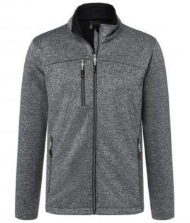 Mens Melange Softshell Jacket James & Nicholson - dark melange black