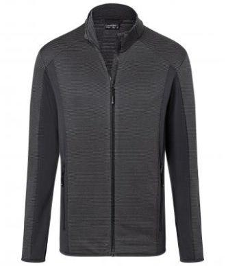 Mens Structure Fleece Jacket James & Nicholson - black carbon