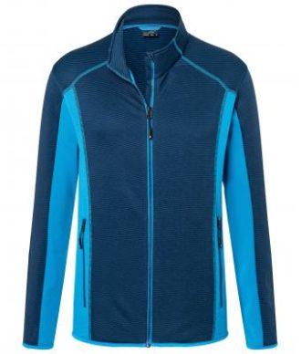 Mens Structure Fleece Jacket James & Nicholson - navy bright blue