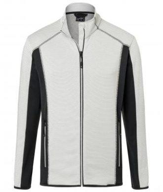 Mens Structure Fleece Jacket James & Nicholson - offwhite carbon