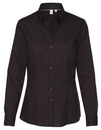 Seidensticker Bluse Womens Blouse Slim Fit Longsleeve - black