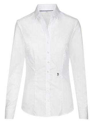 Seidensticker Bluse Womens Blouse Slim Fit Longsleeve - white