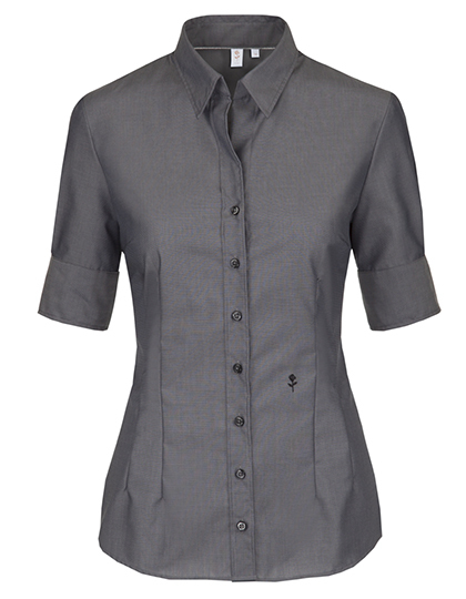 Seidensticker Bluse Womens Blouse Slim Fit Shortsleeve - anthracite