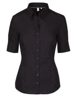 Seidensticker Bluse Womens Blouse Slim Fit Shortsleeve - black