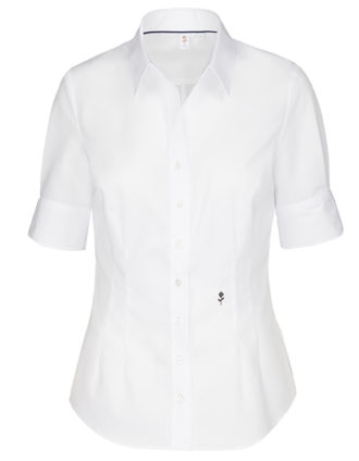 Seidensticker Bluse Womens Blouse Slim Fit Shortsleeve - white