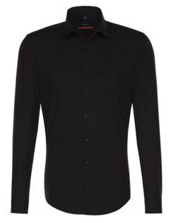 Seidensticker Hemd Mens Shirt Slim Fit Longsleeve - black