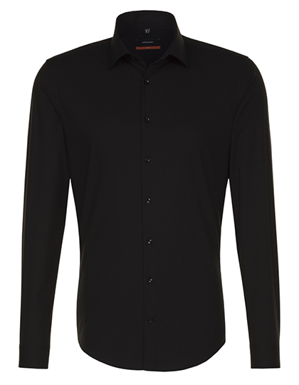 Seidensticker Hemd Mens Shirt Slim Fit Longsleeve - black