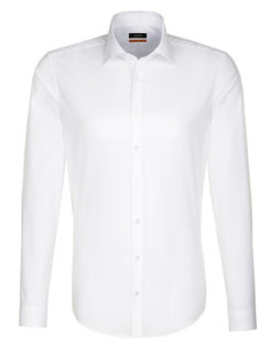 Seidensticker Hemd Mens Shirt Slim Fit Longsleeve - white