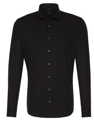Seidensticker Hemd Mens Shirt Tailored Fit Longsleeve - black