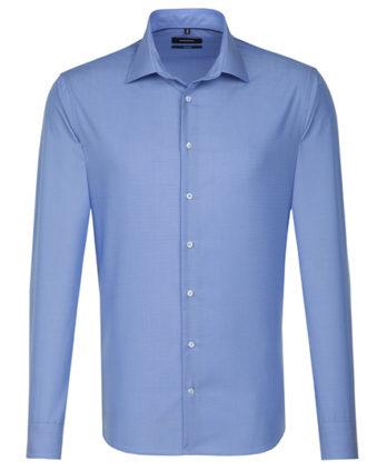 Seidensticker Hemd Mens Shirt Tailored Fit Longsleeve - midblue