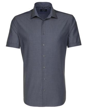Seidensticker Hemd Mens Shirt Tailored Fit Shortsleeve - anthracite