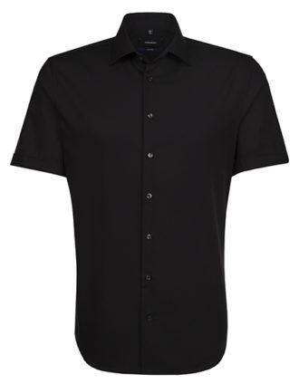 Seidensticker Hemd Mens Shirt Tailored Fit Shortsleeve - black