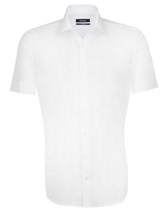 Seidensticker Hemd Mens Shirt Tailored Fit Shortsleeve - white