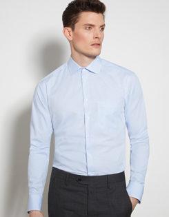 Seidensticker Mens Shirt Modern Fit Check & Stripes Longsleeve - check light blue stripes